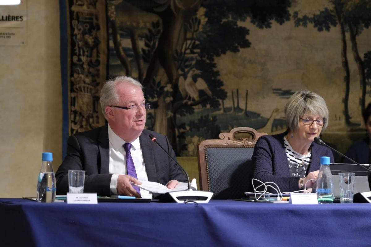 Régis Vallienne, président de la Commission Réussite Educative, Marie-Thérèse Leroux, présidente de la Commission Solidarité, Autonomie et Démographie médicale